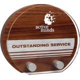 Image of Real Wood Sunrise Award with Acrylic Front Plate