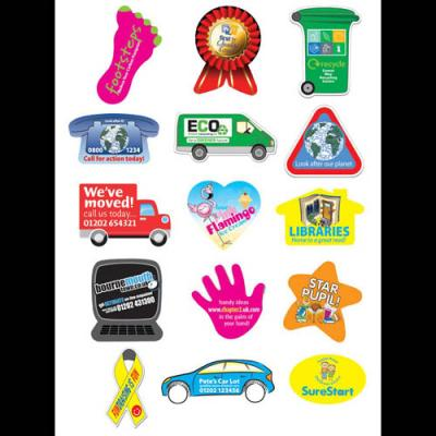 Image of Square Paper Stickers: 51 x 51mm 15 per sheet