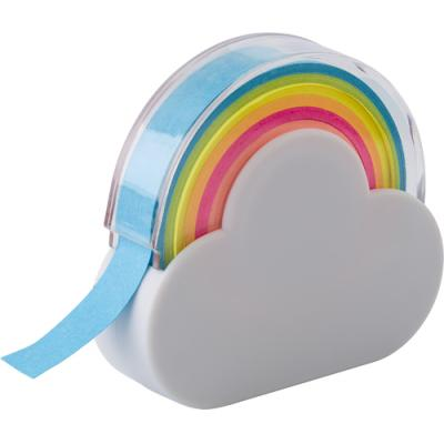 Image of Cloud and rainbow memo tape dispenser